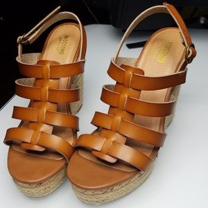Cute jute / cork wedge heels